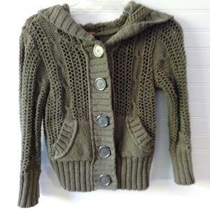 FREE PEOPLE | Chunky Knit Hoodie Sweater Size XS